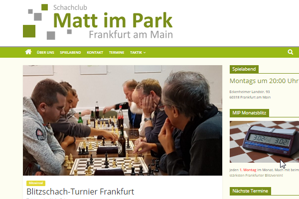 Screenshot Webseite Matt im Park